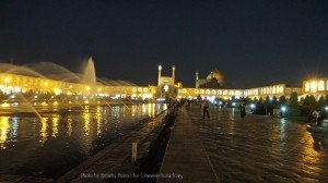 Nagshe-Jahan Square at night