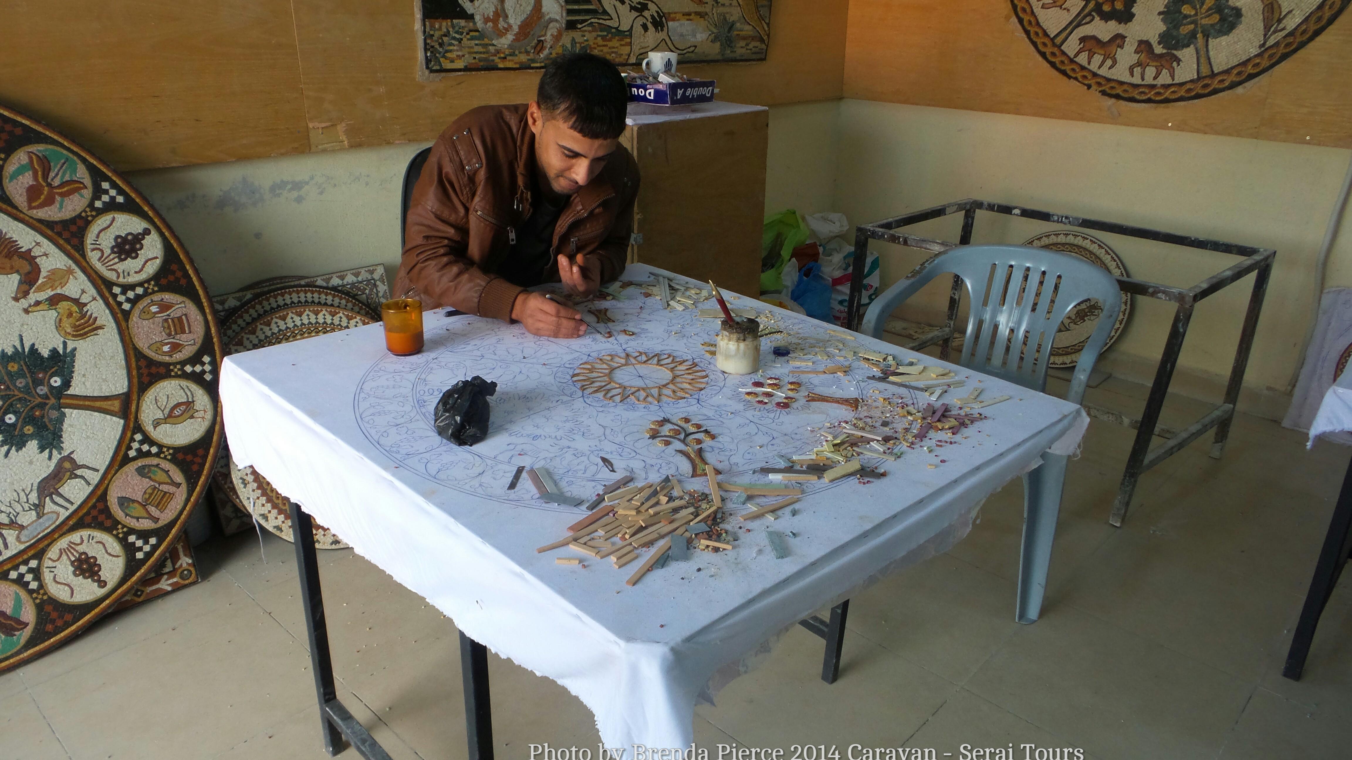 Mosaics in Madaba Jordan