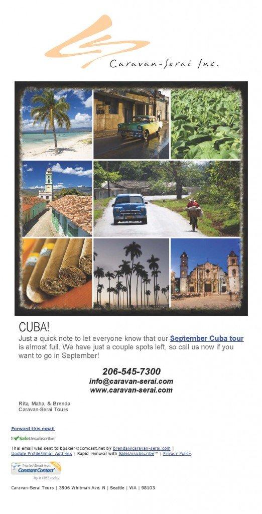 Cuba Tour Update!