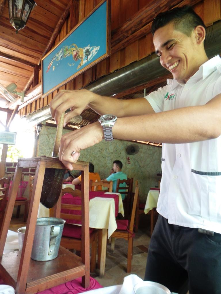 Cuban coffee press