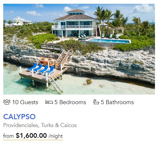 Private villa on Turks and Caicos. Click for more information.